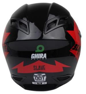 CASCO GHIRA GH900 ROJO GRAFICO SLAVE CERRADO SVS