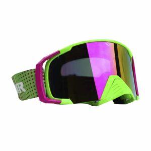 Goggle Bkr Reflect Verde Neón Mica Tornasol Enduro Para Moto