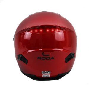 Casco Roda Firefly Rojo C/Led Cerrado  L