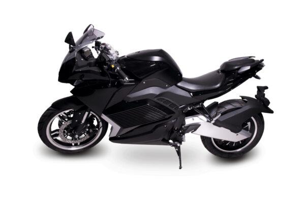 Motocicleta deportiva eléctrica Black Racing 3000W
