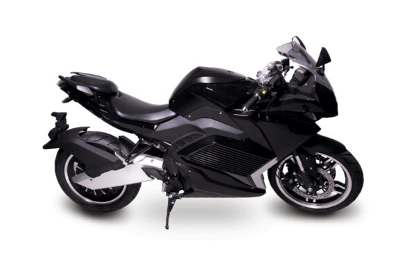 Motocicleta deportiva eléctrica Black Racing 5000W